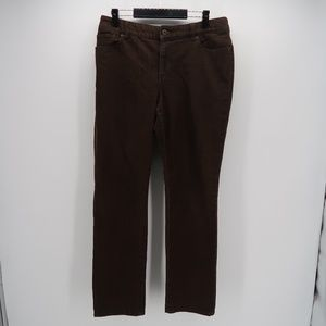 Chico's Flat Front Straight Leg Ankle Jeans Pants